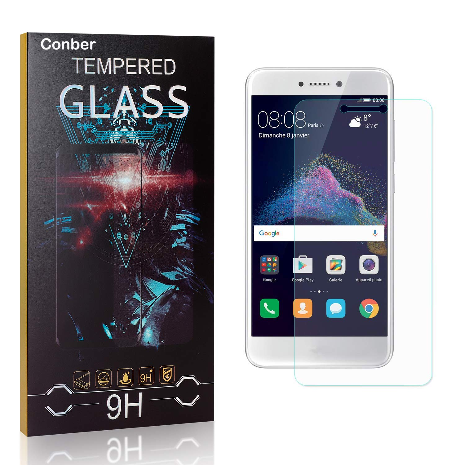 Conber Screen Weekly update Protector for Huawei P8 9H Special Campaign Lite Tem Pack 2017 1
