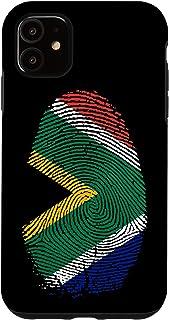iPhone 11 South Africa Flag Fingerprint DNA Gift South Africans Case