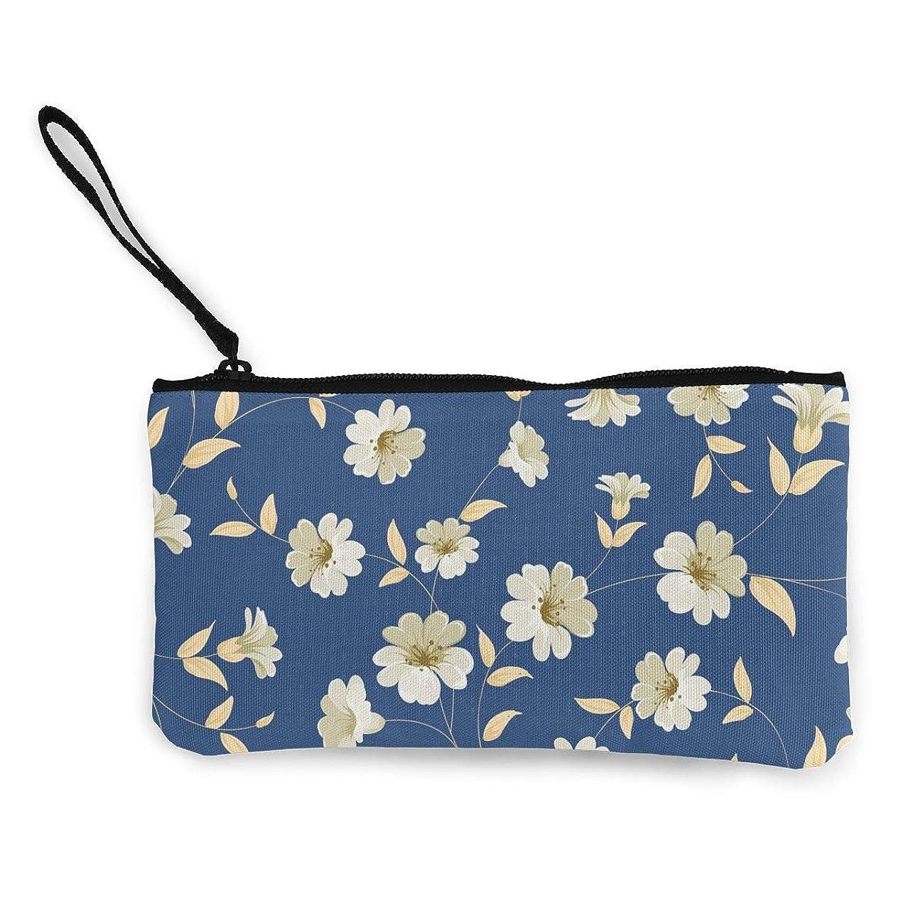タービン扱いやすいスリルErmiCo レディース 小銭入れ キャンバス財布 伝統的な花 小遣い財布 財布 鍵 小物 充電器 収納 長財布 ファスナー付き 22×12cm