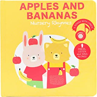 Cali's Books. Apples and Bananas Nursery Rhymes Sound Book for Babies and Toddlers. Best Interactive and Educational Toy f...