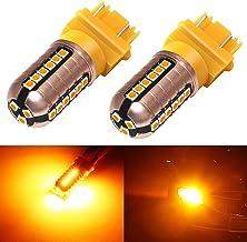 Phinlion 3157 LED Orange Turn Signal Light 3000 Lumens...