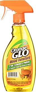 Orange Glo Wood Furniture 2-in-1 Cleaner & Polish, 16 ounces