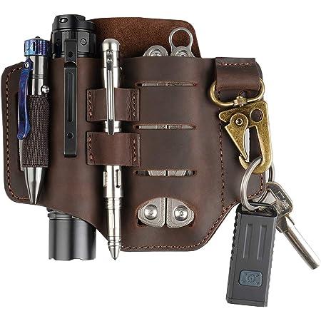 EDC Leather belt pouch Multitool Leather sheath Pocket organizer Leatherman mens