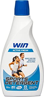 Win Sports Detergent - Active Fresh (Blue) 1 Bottle - Specially Formulated for Sweaty Workout Clothes - Removes Odor from Running Gym and Activewear Apparel and Football Hockey Uniforms