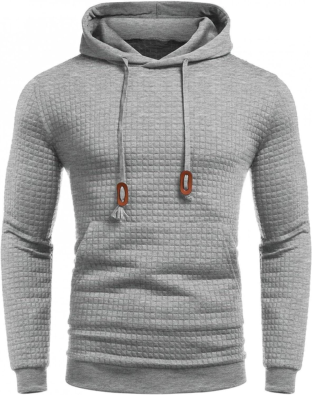 Mens Hoodies Stitching Color Athletic Long Sleeve Sweatshirt Casual Pullover Drawstring Men's Hoodies