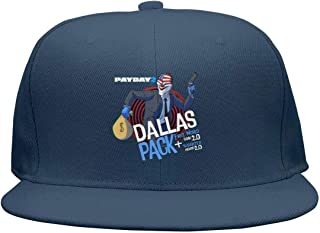 PAYDAY-2-Dallas-Pack- Flat Bill Adjustable Hat Snap Snapback Cap Men & Women Hip-Hop