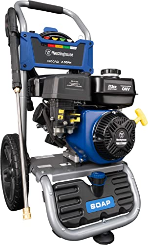 Westinghouse Outdoor Power Equipment WPX3200 Gas Powered Pressure Washer 3200 PSI and 2.5 GPM, Soap Tank and Five Noz...
