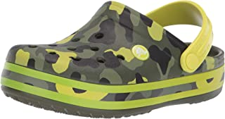 Crocs Kids' Boys and Girls Crocband Camo Graphic Clog