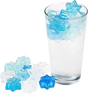 20 Star of David Reusable Ice Cubes - food Grade Silicone - Freeze and Use to Cool and Chill Drinks - Magen Dovid Shaped Ice - by The Kosher Cook