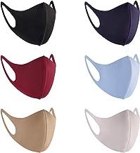 6 Pcs Fashion Cloth Fabric Face Protection, Unisex Earloop 6 Colors Washable, Reusable