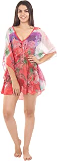 La Fabelle Floral Print Kaftan Top Beach Wear Cover ups Dresses Body Swim wear Nighty for Women's and Girls
