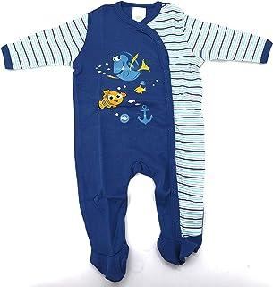heimtexland heimtexland Disney Baby Strampler in blau Gr. 62-68 Langarm mit Füßen Findet Nemo Dorie Jungen 100% Baumwolle hautfreundlich Ökotex geprüft Typ512