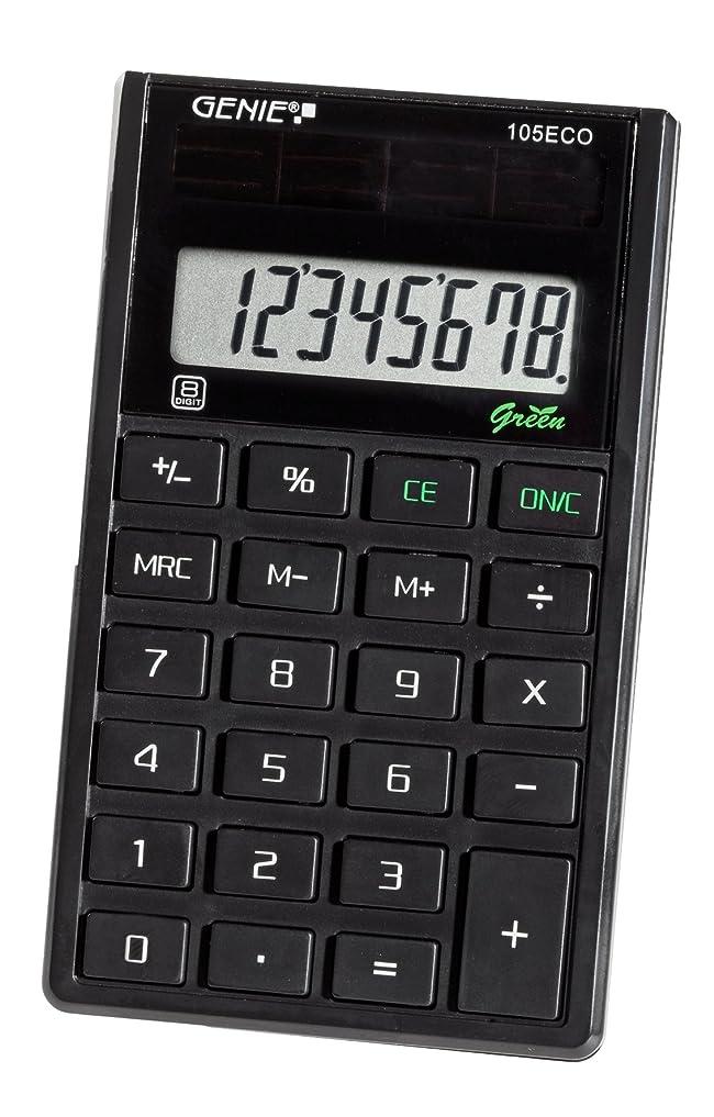 樫の木ベーリング海峡部Genie 105ECOソーラーポケット電卓