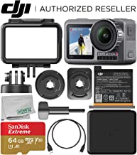 DJI Osmo Action 4K Camera with 64GB Basic Accessory Bundle – Includes: SanDisk Extreme 64GB microSDXC Memory Card (UHS-I / V30 / A1 / U3 / Class-10) + Microfiber Cleaning Cloth
