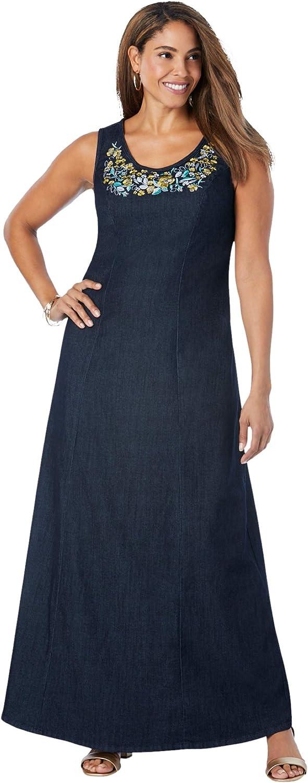 Jessica London Women's Plus Maxi Size Dress 低価格 お求めやすく価格改定 Denim