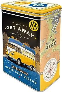 "Nostalgic-Art Retro Kaffeedose Volkswagen Bulli – Let""s Get Away – VW Bus Geschenk-Idee, Blech-Dose mit Aromadeckel, Vintage Design, 1,3 l"