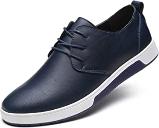 ZZHAP Men's Casual Oxford Shoes Breathable Flat Fashion Sneakers Blue Size: 12