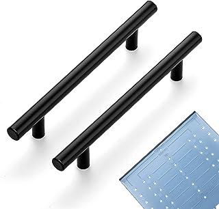 "Ravinte 60 Pack | 7.38'' Cabinet Pulls Matte Black Stainless Steel Kitchen Drawer Pulls Cabinet Handles 7-3/8""Length, 5"" H..."
