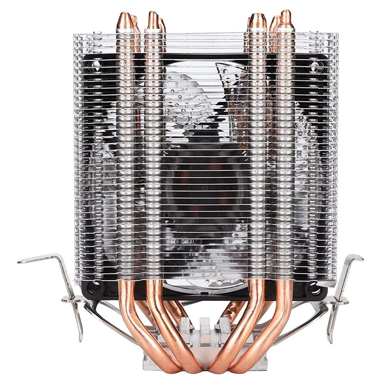 WISENOVO CPU Cooler Cold Storm T90 4 Heat Pipe Twin Tower Silent CPU Cooling Fan Streamer Blue Dual-Fan Radiator Heatsink 3-pin Hydraulic Bearing for Home Office Server(4P Temperature Control)