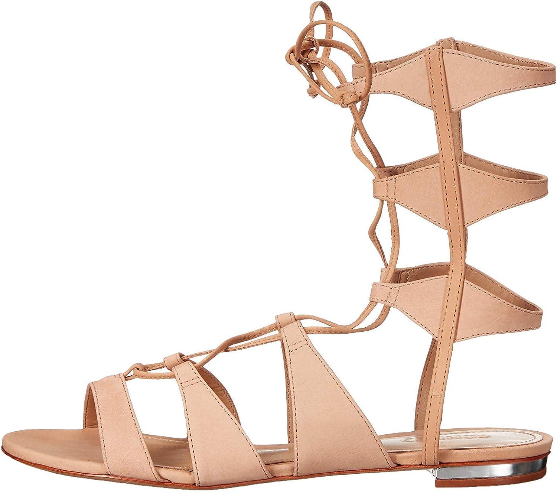 Schutz Womens Erlina Open Toe Casual Gladiator Sandals, Lightwood, Size 9.0