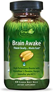 Irwin Naturals Brain Awake Enhanced Mental Performance, Increased Focus, Boost Clarity & Concentration - Powerful Nootropi...