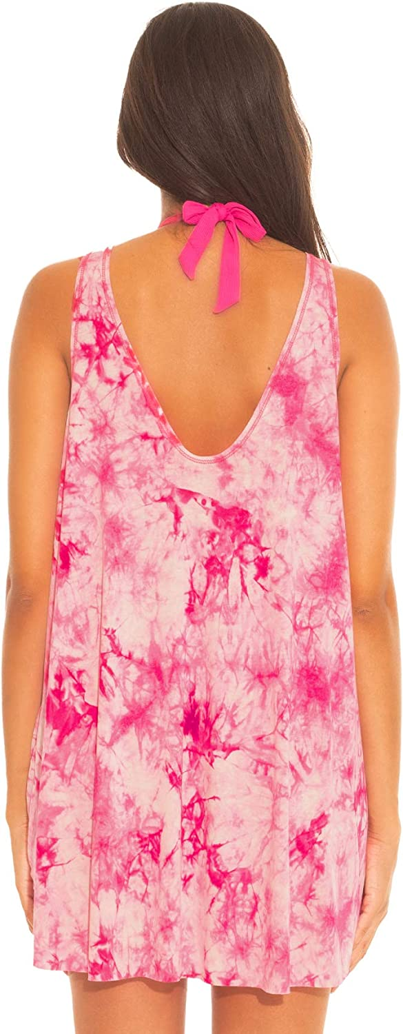 Becca by Rebecca Virtue Women's Wovens Tie Dye Short Dress Swim Cover Up at  Women's Clothing store