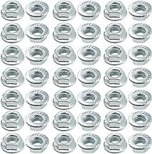 50pc M6 contre-/écrous hexagonaux /à embase dentel/ée acier Inox 201