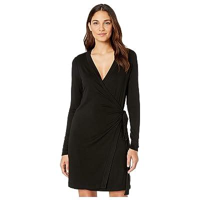 LAmade Lenore Wrap Dress (Black) Women