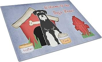 Caroline's Treasures BB2787LCB Dog House Collection Standard Schnauzer Salt & Pepper Glass Cutting Board, Large, Multicolor