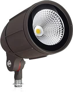 30-Watt LED Bullet Flood Light for 120 Volt Outdoor Landscape Lighting, 3200 lm, Bronze, 150W MH Equal, Flag Pole Light, 25° Spotlight Beam, Warm White (3000K, 1-Pack)