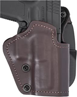 Mako 3-Layers Brown Holster (Synthetic Material/Kydex/Suede Lining) - Paddle Version Fits Colt 1911 Hand Gun, Right Hand