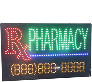 LED Pharmacy Open Light Sign Super Bright Electric Advertising Display Board for Drugstore Chemists's Shop Store Window Bedroom Decor 31 x 17 inches