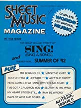 Sheet Music : Ain't She Sweet ; Mack The Knife ; Tea For Two ; Mr. Bojangles; Blowin' In the Wind; I May Be Wrong (1977 Jo...