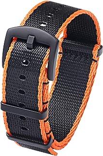 PBCODE Seat Belt NATO Strap Ballistic Nylon Replacement Watch Strap Bands 18mm 20mm 22mm Matte Black Buckle
