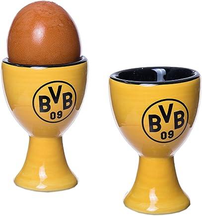 Preisvergleich für BVB Borussia Dortmund - Eierbecher 2er Set - Becher Eier Frühstück