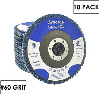 amoolo Flap Disc 4-1/2 inch 7/8