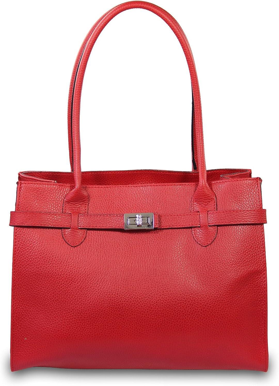 66f56c744b7c8 MIO Leder Handtasche oder Schultertasche Schultertasche Schultertasche  f uuml r Damen Kroko und Glattleder Farbwahl schwarz braun Cognac  B07LBWLNZL f6d474