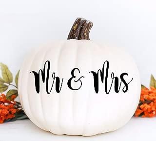 Custom-Sticker Mr and Mrs Pumpkin Monogram Vinyl Decal Pumpkin Decor Halloween Fall Porch Decor Monogram Decal Pumpkin Decoration Fall Pumpkin Decal