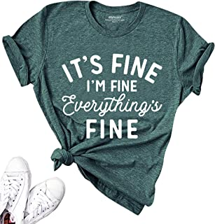 Mahrokh Women Funny Graphic Tees Loose Summer Tops Short Sleeve T Shirts with Sayings