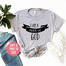 I'm A Child Of God T Shirt, Faith T Shirt, I am a god's child t shirt, Faith T Shirt, I'm Proof That God Answers Shirt, I'm No Longer A Slave To Fear Shirt, God's Child T Shirt, Christian T Shirt