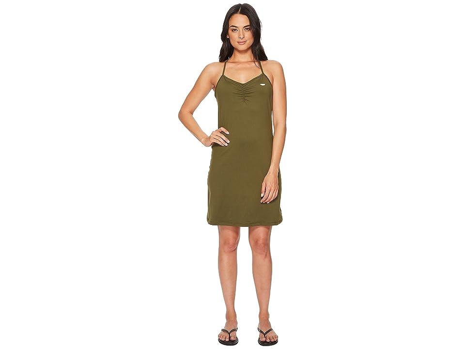 Prana Elixir Dress (Cargo Green) Women
