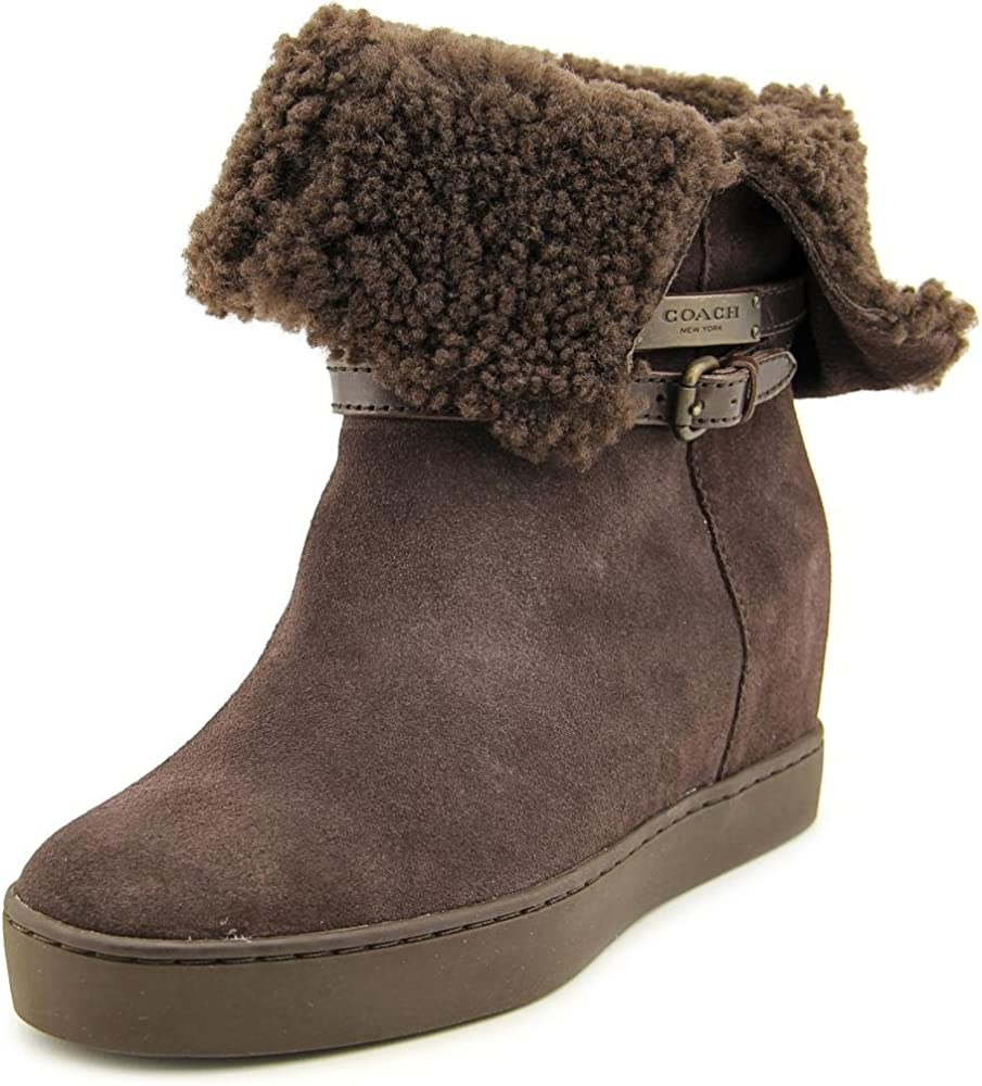 COACH Norell Suede Mid Calf Boot
