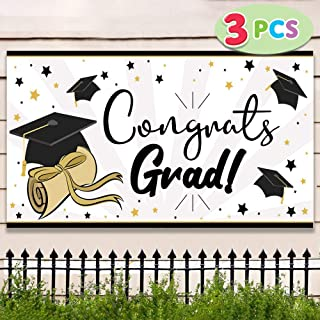 "JOYIN 3 Pack Graduation Party Banner (36""x 70"") Graduation Party Decoration Graduation Party Supplies"