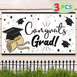 JOYIN 3 Pack Graduation Party Banner (36