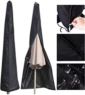 LOAMO Umbrella Covers - Patio Waterproof Parasol Covers with Storage Zipper Bag Fits 7ft to 11ft Umbrellas for Outdoor Market Umbrellas