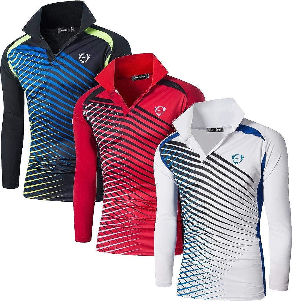 Sportides Men's 3 Packs Quick Dry Tshir Shirt Tee 価格 Sport Polo Fit 正規品