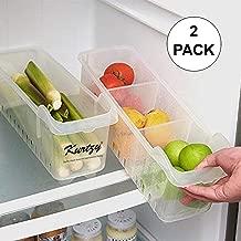 Kurtzy Fridge Storage Basket Rack Plastic Box Organizer Set of 2 (39 X 16 cm)