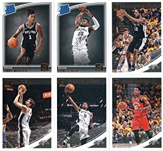 2018-19 Donruss Basketball San Antonio Spurs Team Set of 6 Cards: (Rookies included) DeMar DeRozan(#13), Dejounte Murray(#101), LaMarcus Aldridge(#131), Pau Gasol(#141), Lonnie Walker IV(#174), Chimezie Metu(#195)