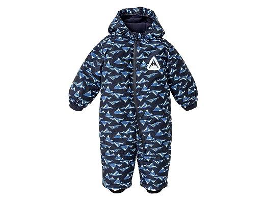 Lupilu Baby Jungen Winteroverall Warm mit Kapuze Navy//Alloverprint 80