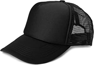 styleBREAKER Gorra de Malla de 5 Paneles, Gorra de Camionero, Gorra de béisbol, Ajustable, Unisex 04023007